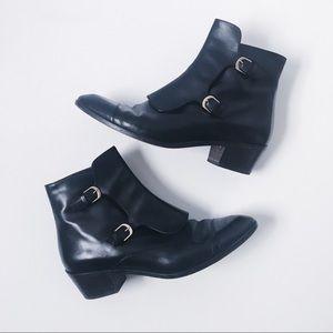 J. Crew Genuine Leather Italian Western Booties